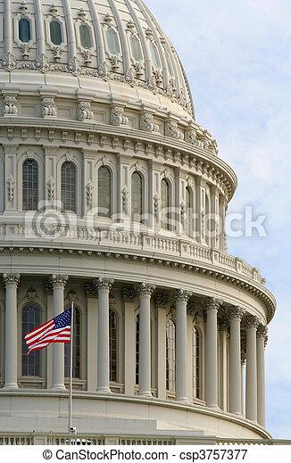 US Capitol Dome - csp3757377