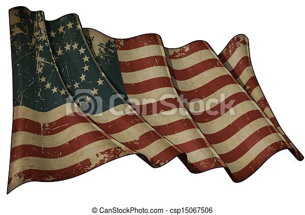 US Civil War Union -37 Star Medallion- Historic flag - csp15067506