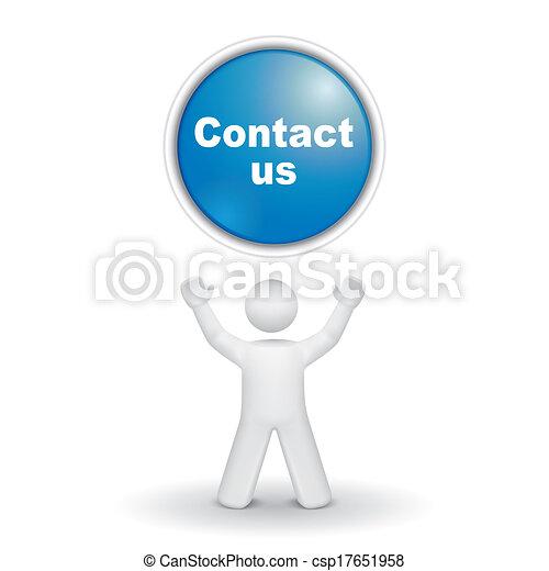 """us"""", """"contact, op, het kijken, persoon, knoop, 3d - csp17651958"""