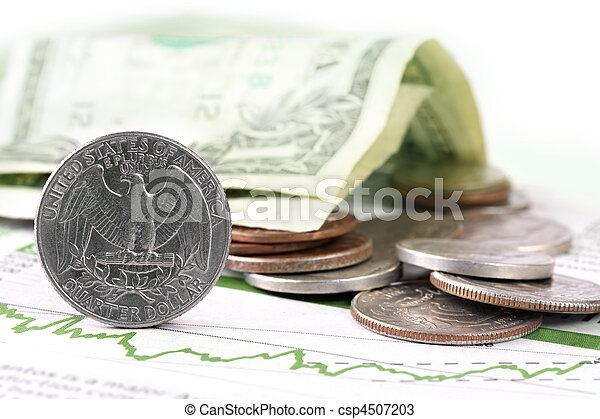 US Currency on Finance Graph - csp4507203