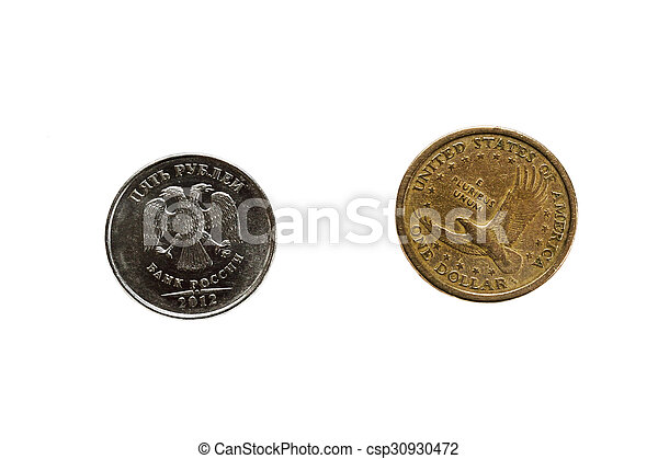 US dollar and russian ruble - csp30930472