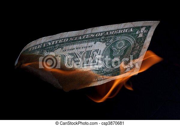 U.S. dollar burning - csp3870681