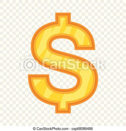 US Dollar icon, cartoon style - csp68086486