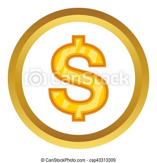 US Dollar icon - csp43313309