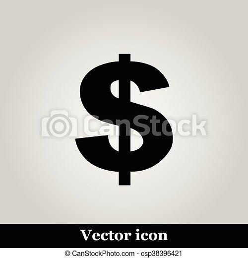 Us dollar icon - csp38396421