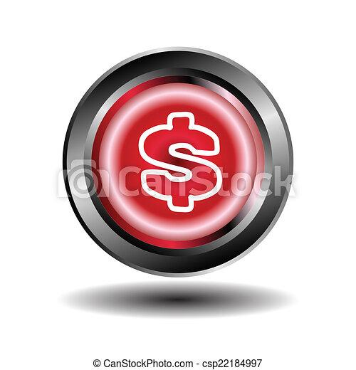 Us dollar icon vector - csp22184997