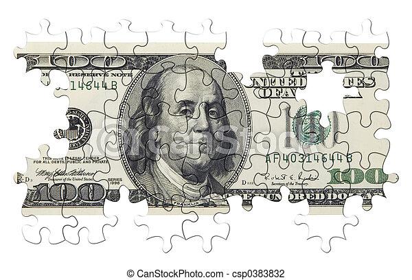 US dollar puzzle - csp0383832
