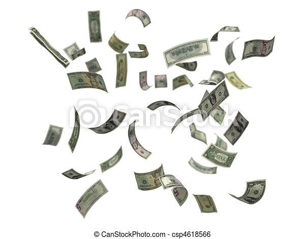 US dollars falling - csp4618566