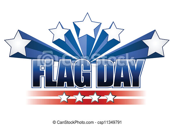 US flag day stars illustration - csp11349791