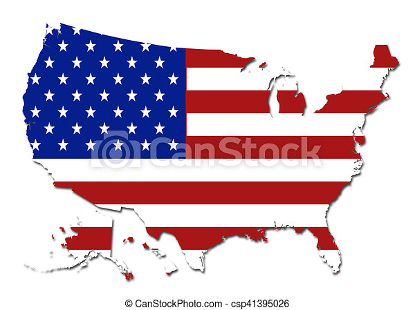 us flag usa map symbol logo on a solid background clip art search the us