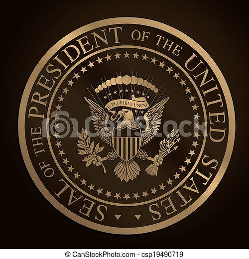 US Golden Presidential Seal.cdr - csp19490719
