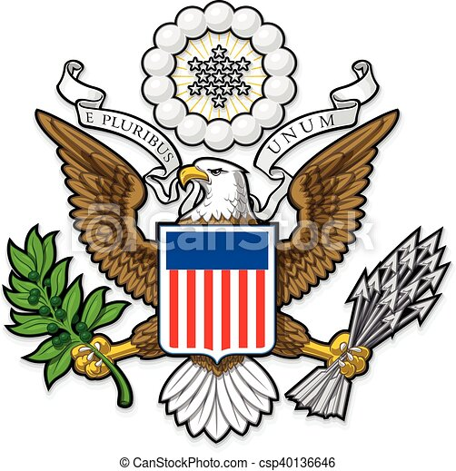 us great seal bald eagle highly detailed vector design of a eps rh canstockphoto com presidential seal clipart us presidential seal clipart
