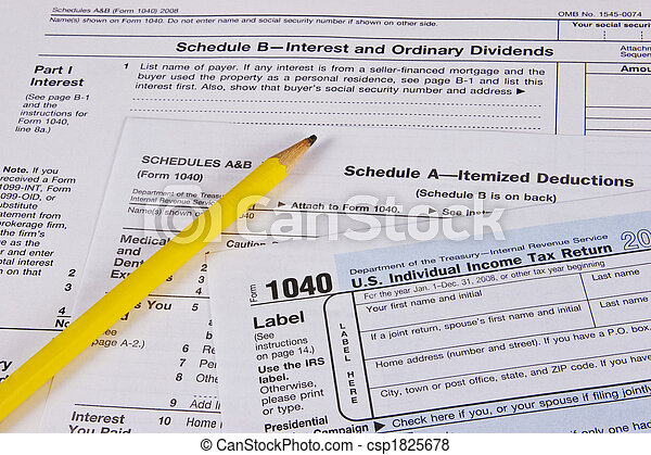 Us Income Tax Forms Us Income Tax Form 1040 Schedules