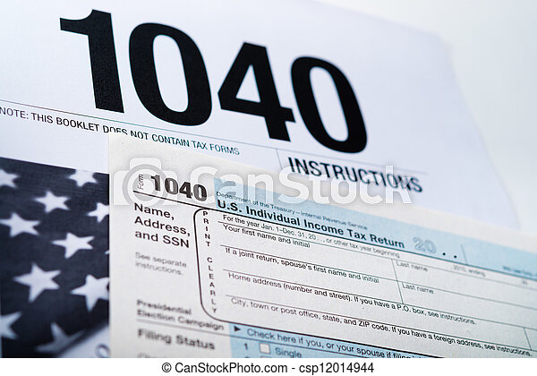 Us Income Tax Return Form 1040 Stock Photo Search Photographs