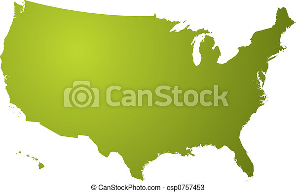 Us Map Outline Clipart And Stock Illustrations Us Map - Us map outline vector