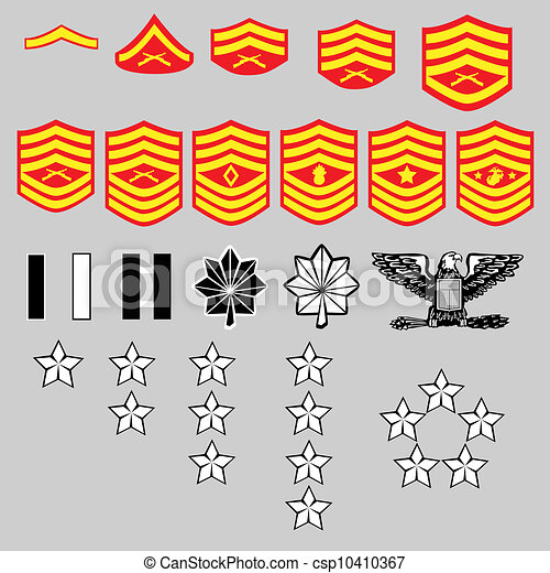 US Marine Corps rank insignia - csp10410367