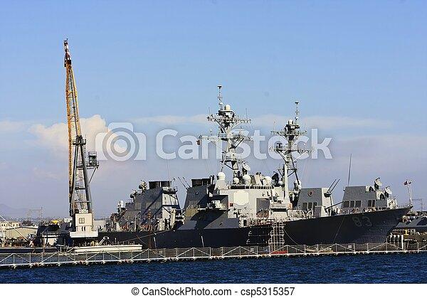 US Navy Battle Ship - csp5315357