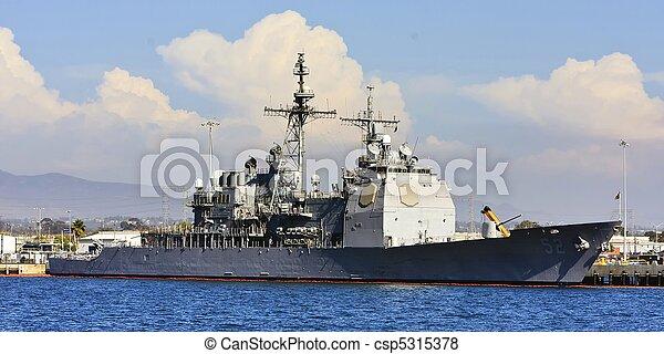 US Navy Battle Ship - csp5315378