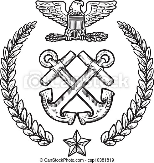 us navy military insignia doodle style military insignia for the us rh canstockphoto com us navy chief clipart us navy submarine clipart