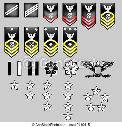 US Navy Rank Insignia - csp10410415