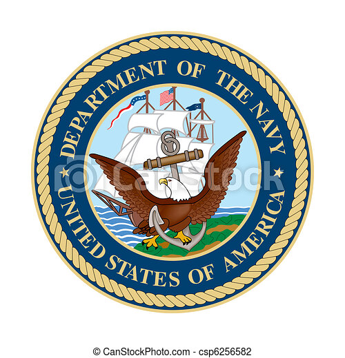 us navy seal united states department of the navy seal isolated on rh canstockphoto com us navy clipart navy clipart black and white