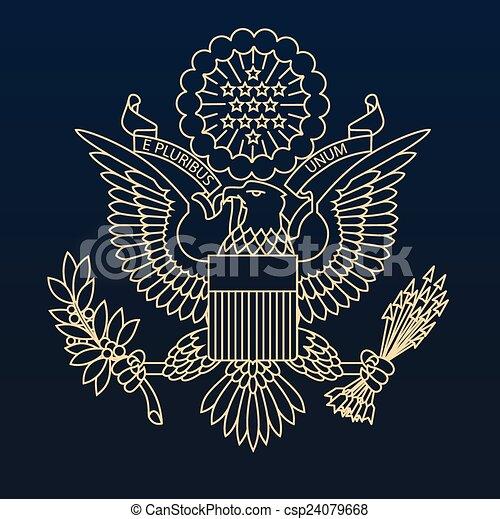 US passport seal - csp24079668