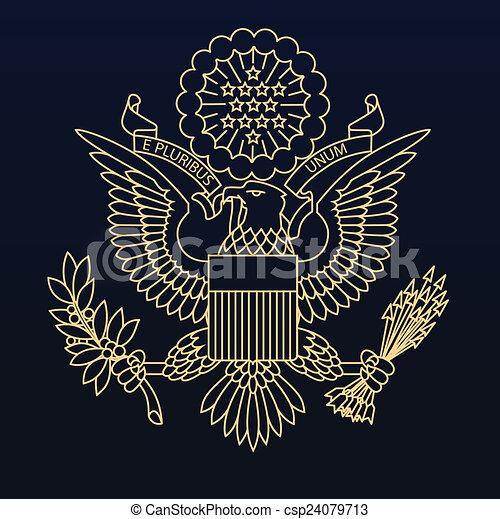 US passport seal - csp24079713