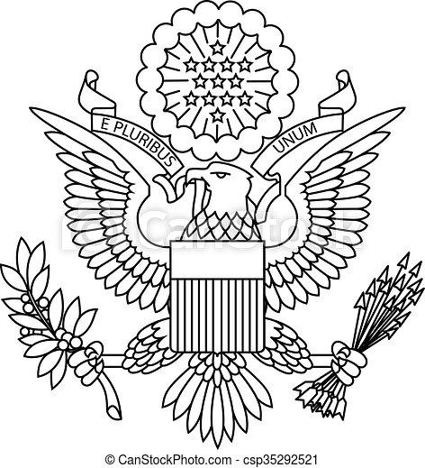 US passport seal - csp35292521