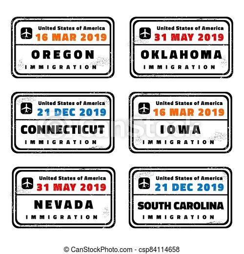 US passport stamps - csp84114658