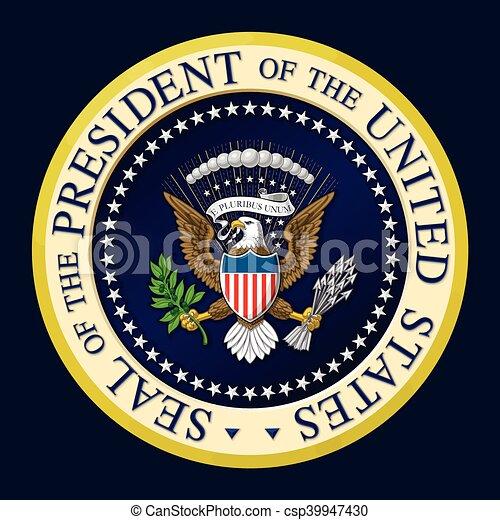 US Presidential Seal Color - csp39947430