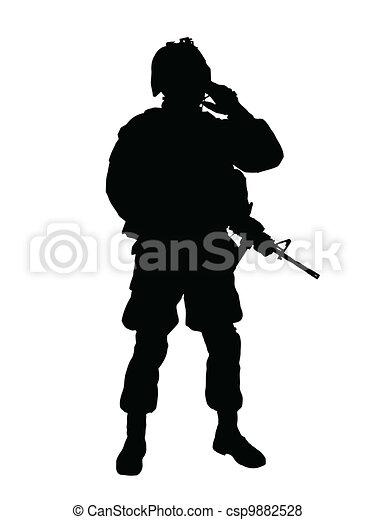 US soldier - csp9882528