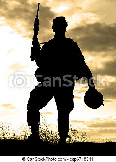 US soldier - csp6718341