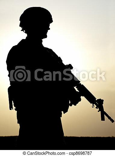 US soldier - csp8698787