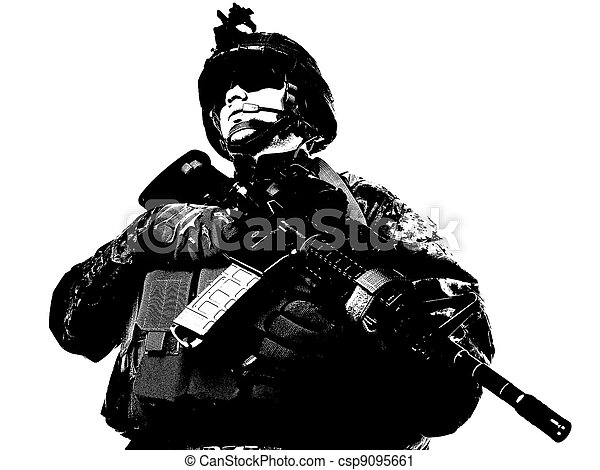 US soldier - csp9095661
