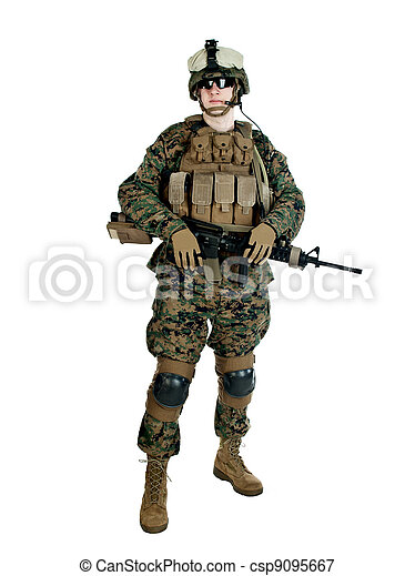 US soldier - csp9095667