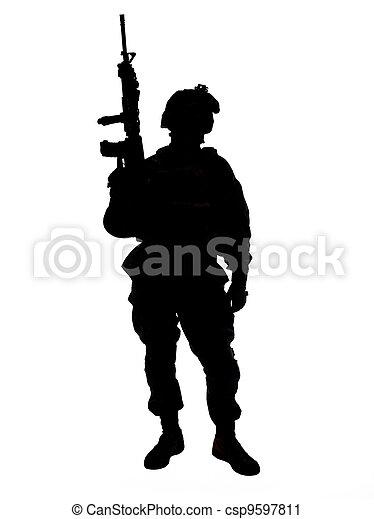 US soldier - csp9597811