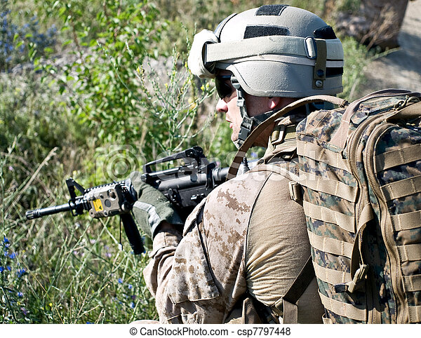 US soldier - csp7797448