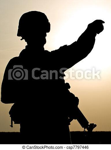 US soldier - csp7797446