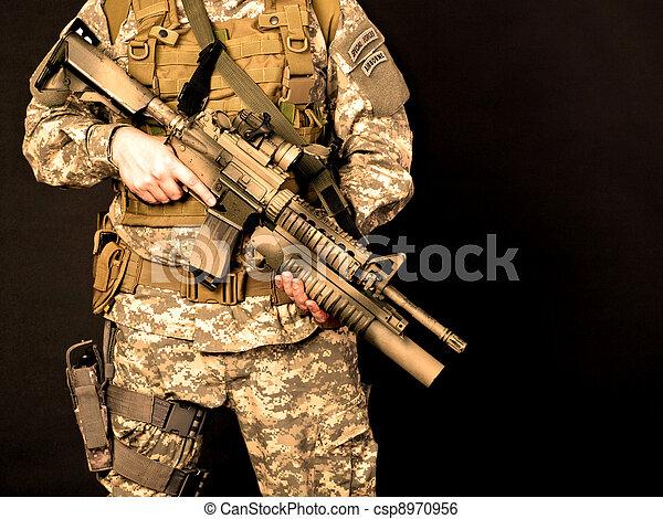 US soldier - csp8970956
