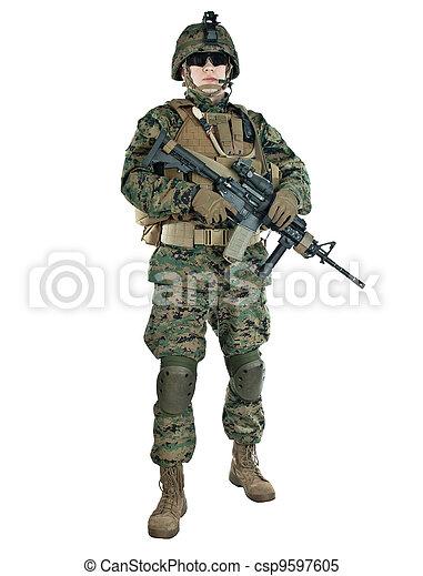 US soldier - csp9597605