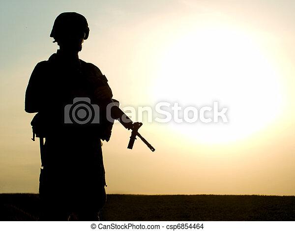 US soldier  - csp6854464