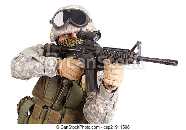 US soldier - csp21911598
