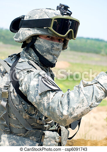 US soldier - csp6091743