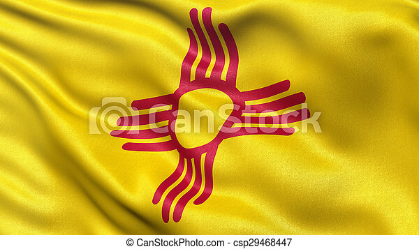 US state flag of New Mexico - csp29468447