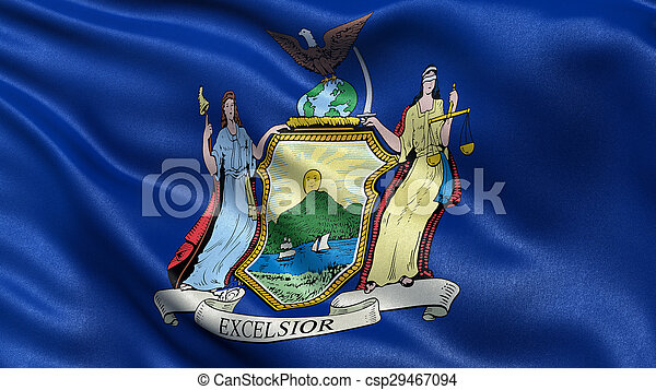 US state flag of New York - csp29467094