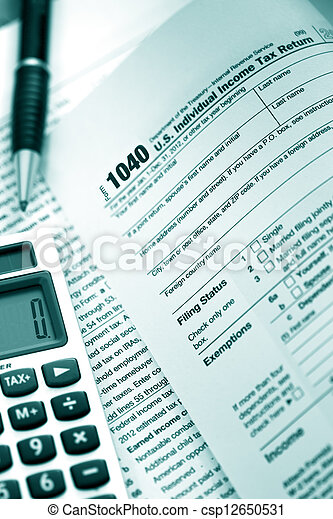 Us Tax Form 1040 With Pen And Calculator Stock Photos Search