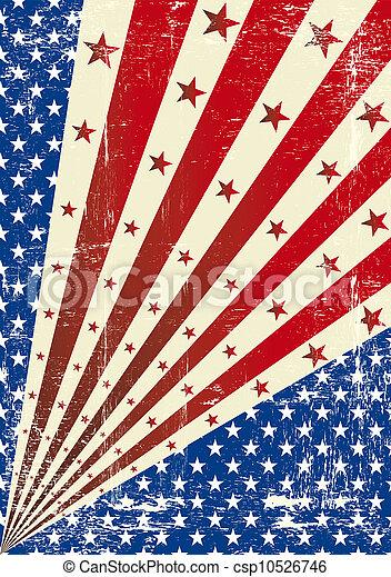 US torn poster - csp10526746