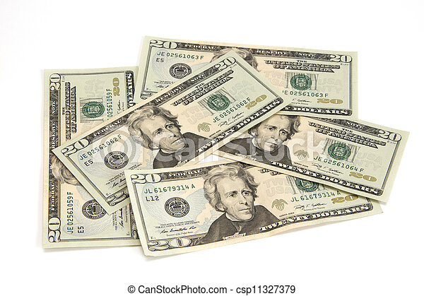 U.S. twenty dollar Banknotes - csp11327379