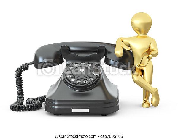 us., uomini, telefono., 3d, contatto - csp7005105