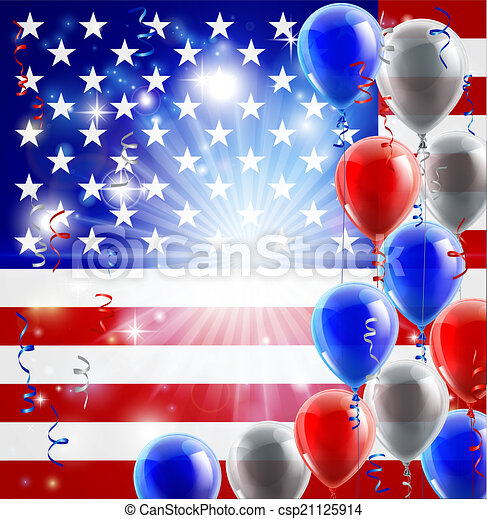 d6b61a25217 Usa 4th july balloons background. A patriotic american usa 4th july ...
